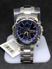 Seiko Solar Men's Blue Dial Chronograph Silver Tone Watch SSC141 #17