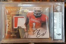 2010 UD Exquisite Dez Bryant On Card Black Ink Auto 2 Color Patch Rc # 21/75