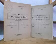 GUERRE 1914-1918 REGIMENTS BATAILLONS LES CHASSEURS A PIED (EDMOND LAJOUX 2 VOL)