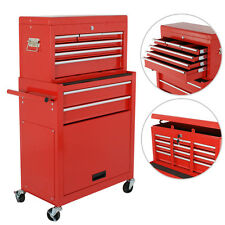 Tool Box Cabinet Roller Steel Chest Storage 6 Drawers Rolling Garage Cart New