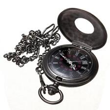 Vintage Steampunk Retro Bronze Pocket Watch Quartz Pendant Necklace Chain New