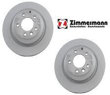 NEW Porsche Cayenne 355 X 28 mm Pair Set of 2 Rear Disc Brake Rotors Zimmermann