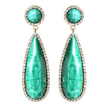 NWT Amrita Singh Real Housewives Paros Island Gold Turquoise Earrings ERC 1660