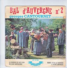 "Georges CANTOURNET J. CAMBON Disque 45T 7"" EP BAL D'AUVERGNE N°2 Folk 2133 RARE"