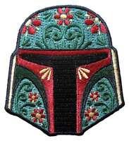 Star Wars Boba Fett Floral Helmet Embroidered Patch