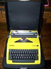 Antique 1977 Yellow Sunshine Olympia SM9 International Vintage Typewriter
