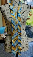 Jerry Garcia Desert Storm Collectors Edition Neck Tie Abstract Yellow Blue Black