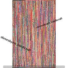 Reversible Braided Rectangle Woven Jute&Cotton Rug Carpet Modern Rug Home Decor