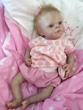 "REBORN DOLL BABY GIRL ABIGAIL REALISTIC 16""  REAL LIFELIKE ROOTED BLONDE HAIR"
