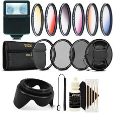 58MM Lens Filter Accessory Kit + Slave Light for CANON Rebel T4 T3 T5 T1i XT XTi
