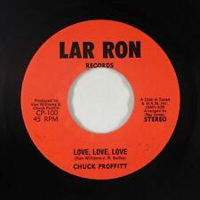 New Listing70s Soul 45 - Chuck Proffitt - Love, Love, Love - Lar Ron - Vg+ mp3 - rare!