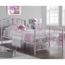 Rosebery Kids Twin Metal Bed Frame in Pink