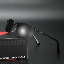 Aluminium HD Rimless Polarized Sunglasses UV400 Sports Driving Glasses Eyewear