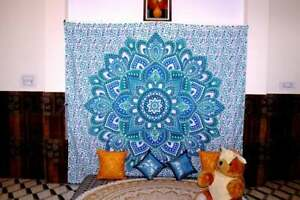 Mandala Tapestry Round Print Wall Hanging Home Decor Queen Size Bedspread Cover