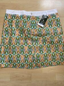 NWT Golfino Ladies Printed Skort 8260728 100 Sz 4 6 8 10 12 14 16 NEW