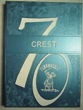 1970 - THE CREST Yearbook - Crestview High School - Columbiana Ohio - OH