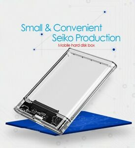 USB3.0 HDD transparent Enclosure 2.5inch Serial Port SATA SSD Case Support 6TB