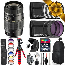 Tamron 70-300mm Lens for Canon + Graduated Color Filter - 32GB Accessory Kit