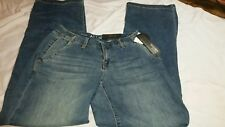 Women's Apt 9 JEANS trouser style Mid Rise Blue and Dark Blue, Size 4; NWT