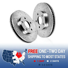 FRONT Drilled & Slotted Brake Rotors Ford Mustang GT500 Base GT Brembo Pkg