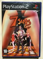 7 Sins (PlayStation 2) Factory Sealed PAL Ultra Rare Sony-Strip Brand New