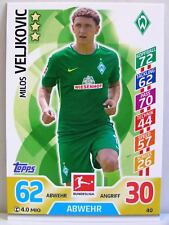 Match Attax 2017/18 Bundesliga - #040 Milos Veljkovic - SV Werder Bremen