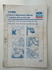 FORD NEW HOLLAND 40 SERIES TRACTOR OWNERS MAINTENANCE MANUAL 1994