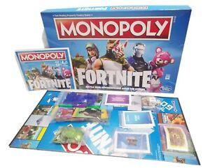 Monopoly Fortnite Hasbro Gaming COMPLETE Board Game Complete Family Fun VGC