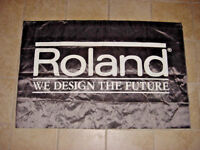 VINTAGE ROLAND ORGAN ELECTRONIC  PIANO DEALER SIGN  70S/ 80S