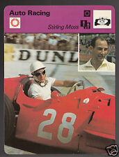 STIRLING MOSS Formula 1 Race Car Driver Auto Racing 1977 SPORTSCASTER CARD 09-15