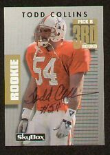 Todd Collins signed autographed  Skybox Football Card