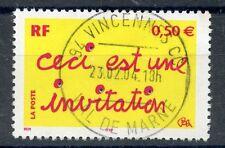 STAMP / TIMBRE FRANCE OBLITERE N° 3636 CECI EST UNE INVITATION