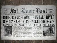 "(158) NOVELTY POSTER HALLOWEEN LIZZIE BORDEN FALL RIVER MASS. AXE MURDER 18""x30"""