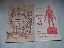 Vintage Booklet Of Louis Tussauds + The Sensational Electronic Visable Glass Man
