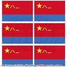 CHINA Luftwaffe Flagge CHINESISCHE Fahne PLAAF Handy Mini-Aufkleber 40mm x6