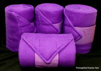 D.A. Brand DELUXE set of 4 PURPLE polo wraps horse tack equine JI-P-165