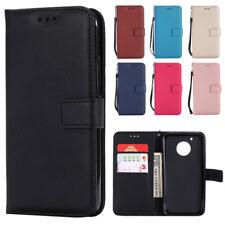 For Motorola Moto E4 G4 G5 G6 C Plus Z Force Wallet Case Leather Flip Cover