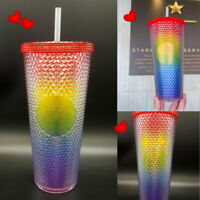Starbucks New Summer 2021 Rainbow Pride Studded Bling 24 Ounce Tumbler Cup US