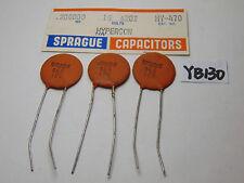 NOS SPRAGUE CERAMIC DISC CAPACITOR LOT OF 3 .200000 16 VOLT HYPERCON HY-470