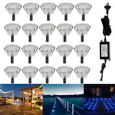 20X 31mm 12V 0.6W Outdoor Yard Path Stairs Patio LED Deck Floor Recessed Lights