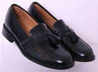 Bostonian 25050 Black Leather Tassel Slip-On Dress Loafers Shoes Men's US 9.5M