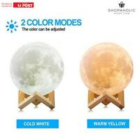 3D Print LED Moon Lamp LED Night Light Moonlight Kids Gift Mood Lamp 18cm