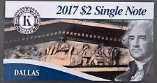 USA 2017 $2 Single Note Series 2009 Dallas  only 5000 pcs !