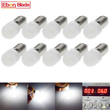 10pcs Lamp LED Bulb 6V Volt White MES E10 1447 Screw for Torch bike bicycle DC