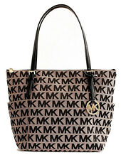 Michael Kors Jet Set East West Top Zip Tote in Beige & Black