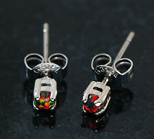 1 Pair 316L Surgical Steel Tiny 3MM Multi Color Opal Stone Earrings Ear Studs