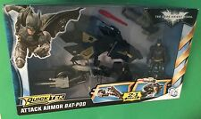 "Batman Attack Armor Bat-Pod & 4"" action figure MATTEL 2011 DARK KNIGHT RISES MIB"