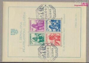 Yugoslavia block1 (complete issue) fine used / cancelled 1937 philatel (9477671