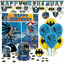 Batman Premium Birthday Party Pack Decoration Kit Childrens Tableware