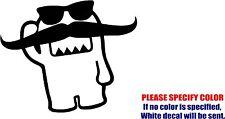 "Vinyl Decal Sticker - Long Mustache Domo Car Truck Bumper Window JDM Fun 9"""